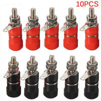 10PCS   4mm Binding Post Speaker Terminal Banana Plug Socket Jack ConnectHFCAXPF