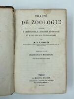LIVRE TRAITE DE ZOOLOGIE PAR NOGUES EDITIONS MASSON 1875 100 FIGURES H3005