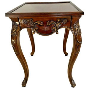 Hekman Furniture Table with Drawer Square Top French Country Carved legs