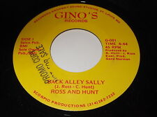Ross And Hunt: Back Alley Sally / I'll Love You Tomorrow 45 - R&B / Blues