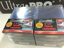 """Ultra Pro 3""""x4"""" 100 Point NEW Top Loaders Pack Of 25 x 2 -Fit THICK NRL cards"""