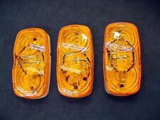 3 Amber Car Hauler Trailer Side Marker Clearance Lights Semi Transport Truck