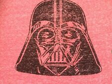 Darth Vader Star Wars Heathered Red Graphic Tee Shirt C-Life Sz Large AUTHENTIC