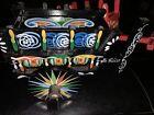 2 Costa Rica Ox Carts  /Colorful Folk Souvenir Wood Art