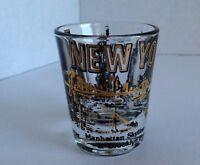 New York Manhattan Skyline Statue of Liberty Trade Towers Bar Shot Glass