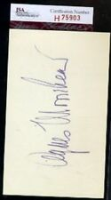 Agnes Moorehead Bewitched Signed Jsa Certed 3x5 Autograph