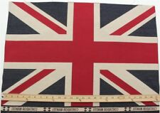 Union Jack Flag Retro Heavy Linen LOOK Upholstery Cotton Cushion Panel Fabric