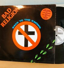 Bad Religion Back to the Known vinyl vintage 1984 Epitaph Greg of Circle Jerks