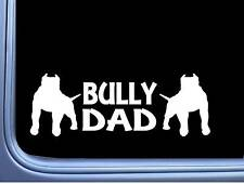 Bully Dad L237 dog 8 inch pit bull sticker decal