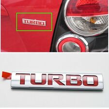 Rear Trunk TURBO Lettering Emblem Logo OEM for GM Chevrolet Sonic / Aveo 2012+