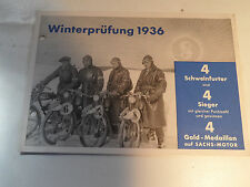 altes Prospekt Winterprüfung 1936 98ccm 98er