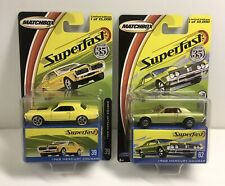 Matchbox Superfast Yellow & Green '68 Mercury Cougars Lot Of 2 NOS 2004