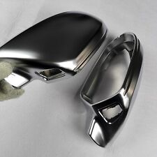 for Audi A6 2011-2018 C7 car mirror cover electroplating silver With Side Assist