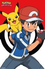 POKEMON  Ash and Pikachu POSTER (22x34) Poster