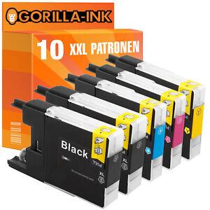 10 Druckerpatronen XXL für Brother MFC-J5910DW MFC-J6510DW MFC-J6710DW LC1280