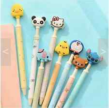 8pcs Cute Ball Point Pens Blue Ink Kawaii Animal Rilakkuma Doraemon Korean panda