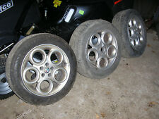 3 x Alfa Romeo 156 teledial alloy wheels and tyres