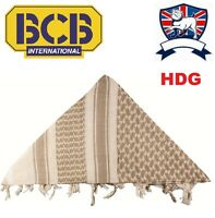BRITISH ARMY GENUINE BCB CREAM SAND SHEMAGH (DESERT TAN BEIGE) ARAB SCARF