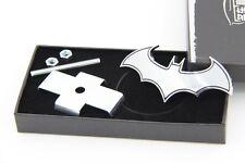 E773 Batman 3D Kühlergrill Emblem Badge car Sticker Metall Frontgrill silber