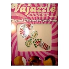 Candy Cane Body Tattoo Crystal Bling Reusable Christmas Holiday Vajazzle Women