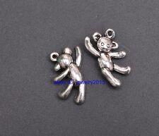 30pcs Tibetan Silver bear Beads Pendant Jewellery Making 19MM A3420
