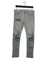 2013 Saint Laurent D02 Size 31 Bleached Denim Rare Heidi
