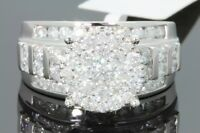 10K WHITE GOLD 2.33 CARAT REAL DIAMOND WOMENS BRIDAL WEDDING RING ENGAGEMENT RIN