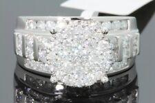 10K WHITE GOLD 2.33 CARAT REAL DIAMOND WOMENS BRIDAL WEDDING RING ENGAGEMENT RIN