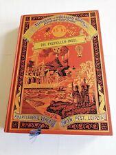 Jules Verne - Propeller-Insel (komplett) - Prachtausgabe - Hartleben [UNGELESEN]
