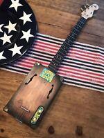 "4 String Cigar Box Guitar ""Rocky Mountain Blues"" #163"