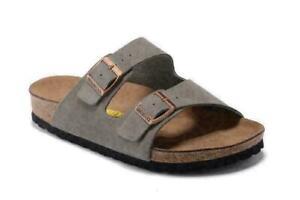Birkenstock Open-Back Herren Damen Suede Unisex Sandalen Arizona Footbed  Soft
