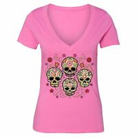 Sugar Skull Day of the Dead Shirt Mexican Flower Dia Los Muertos Tshirt Pink