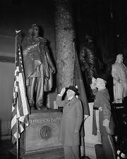 Jefferson Davis Statue US Capitol Statuary Hall 1940 8x10 US Civil War Photo