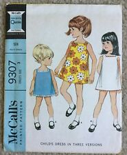 Vintage 1960's McCalls Child's 3 Section Dress Cut Sewing Pattern 9307