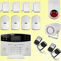 WIRELESS LCD GSM AUTODIAL HOME HOUSE OFFICE SECURITY BURGLAR INTRUDER ALARM SALE