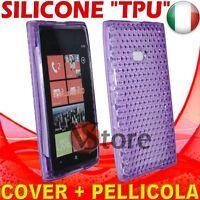 Cubierta De La Caja Para Nokia Lumia 900 Viola Gel De Silicona TPU