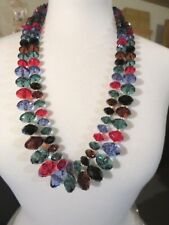 2005 JOAN RIVERS MULTI COLOR LUCITE NECKLACE 2 PC SET