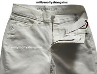 New Womens Marks & Spencer White Straight Leg Jeans Size 14 Petite LABEL FAULT