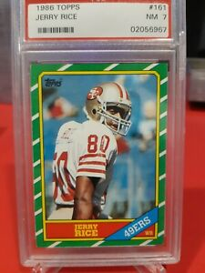 1986 Topps Jerry Rice Rookie PSA 7 San Francisco 49ers #161