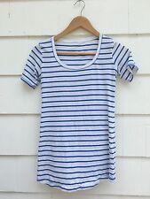 Lululemon Every Yogi Tee Short Sleeve Pipe Dream Blue White Stripe Yoga Size 4