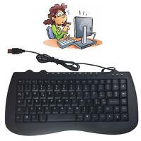 Tastiera Multimediale Pc Compatta Computer Usb Ufficio Notebook Informatica 897