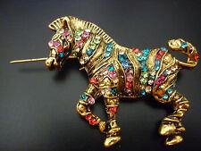 REBAJAS precioso broche chica, caballo dorado con piedrecitas tipo swarovski
