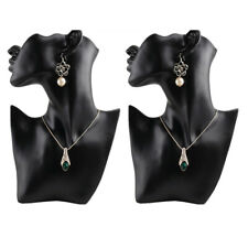 New Listing2 Female Necklace Pendant Show Jewelry Mannequin Bust Store Display Black