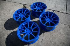 18X9 +30 AODHAN AH06 5X114.3 BLUE WHEEL ( USED ) FITS WRX RSX TSX 240SX CIVIC SI