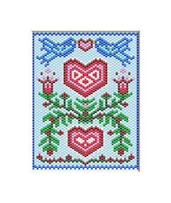 Bluebirds Of Happiness~Large Pony Bead Banner Pattern Only