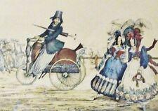 Englische Karikatur - THE PROGRESS OF STEAM - antiker Nachdruck ca. 1930