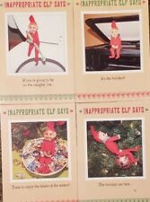 Pixie Elves Elf Knee Hugger Christmas Cards New