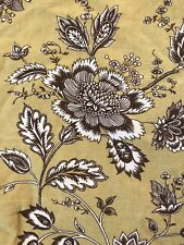 "Queen Comforter Brown Floral Yellow Green 92 X 96"" Cotton with Bed Skirt Pillow"