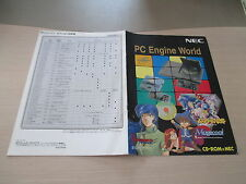 >> PC ENGINE WORLD CATALOG HARDWARE SYSTEM JAPAN CATALOG FLYER CHIRASHI! <<