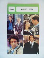 CARTE FICHE CINEMA  VINCENT LINDON